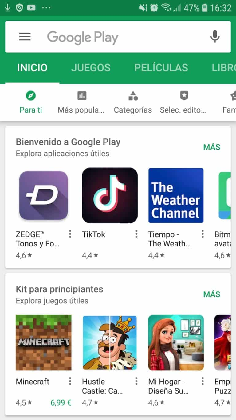 Como descargar Google Play Store en Android